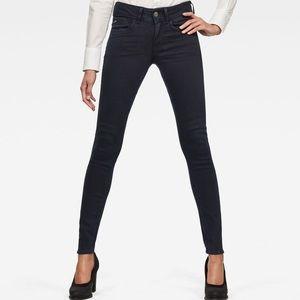G Star Raw Blue Lynn Mid Waist Skinny Size 26